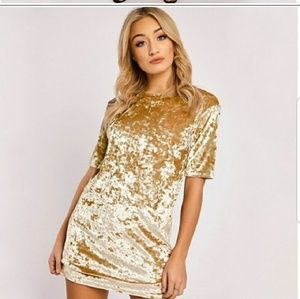 Gold Velvet T-shirt or Mini Dress